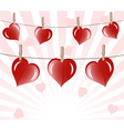 hearts on ropes vector image