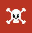 skull and crossbones surprised emoji skeleton vector image
