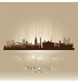 Newcastle England skyline city silhouette vector image vector image