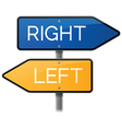 Right or Left Sign Choice vector image