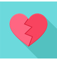 Crushed heart vector image