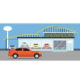 Car Showroom vector image