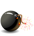 bomb isolate vector image