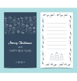 Christmas card on the front and inside Seamless vector image