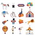 Circus Decorative Icons Set vector image
