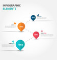 colorful business timeline raodmap infographics vector image