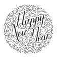 Happy New Year Christmas card Original vector image