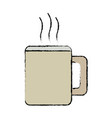 mug coffee hot beverage drink icon vector image
