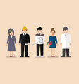 set of variety occupation profession people vector image