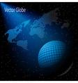 stars sky globe vector image