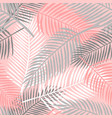 tropical summer palm leaves seamless pattern vector image