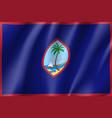 waving flag of guam vector image