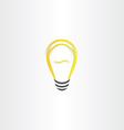 yellow bulb icon design vector image