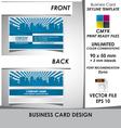Modern Business Card Skyline Template vector image vector image