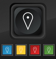 map poiner icon symbol Set of five colorful vector image