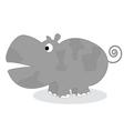 clip art hippo vector image