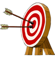 target and arrows vector image