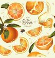 orange tea seamless pattern vector image