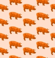 Abstract triangular pig vector image