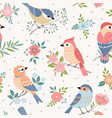 bird pastel pattern vector image