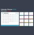 calendar planner for 2018 starts monday vector image