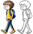 human character outline for boy vector image