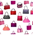 Seamless pattern with womans bags vector image