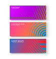 set of colorful banners set of different bright vector image