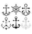 silhouette anchors vector image