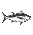 tuna icon isolated on white background vector image