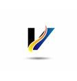 V symbol graphic elements V logo vector image