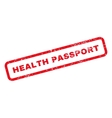 Health Passport Text Rubber Stamp vector image