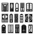 House Doors Black Design Collection vector image
