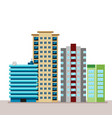 flat business city urban landscape for decoration vector image