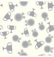 winner seamless pattern champion vector image