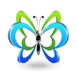 Decorative butterfly vector image vector image
