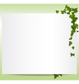 frame with ivy leaves vector image vector image