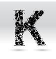 Letter K formed by inkblots vector image vector image