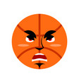 basketball angry emoji ball grumpy emotion vector image