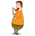 Man eating vector image