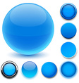 Round blue icons vector image