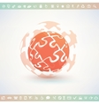 globe made of puzzle piecies business and vector image vector image