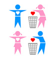 Betraying girl and boy vector image vector image