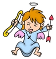 Happy little cupid cartoon vector image