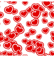 Hearts seamless pattern red vector image