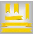 set of yellow ribbons vector image