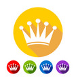 simple crown flat icons vector image