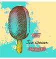 Vintage sweet ice cream vector image