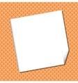 White sheet on Seamless terracota roof tile vector image