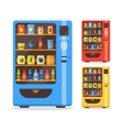 Vending Machine Set with Food and Drink vector image